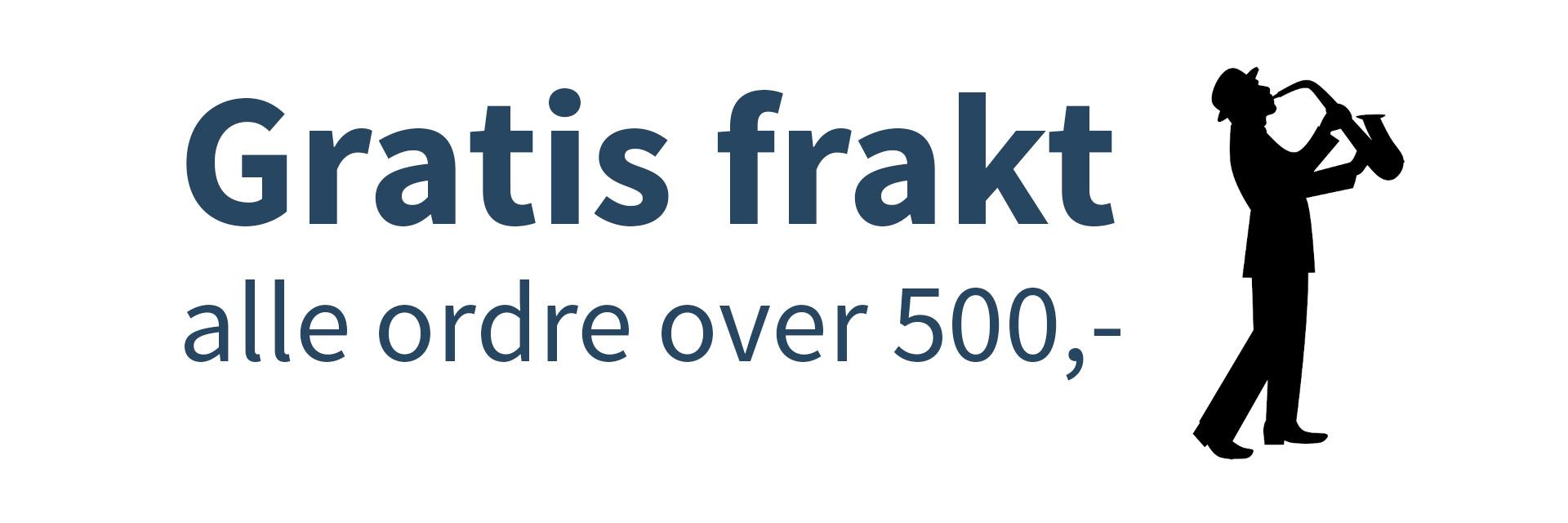 Banner: Gratis frakt på alle ordre over 500,-